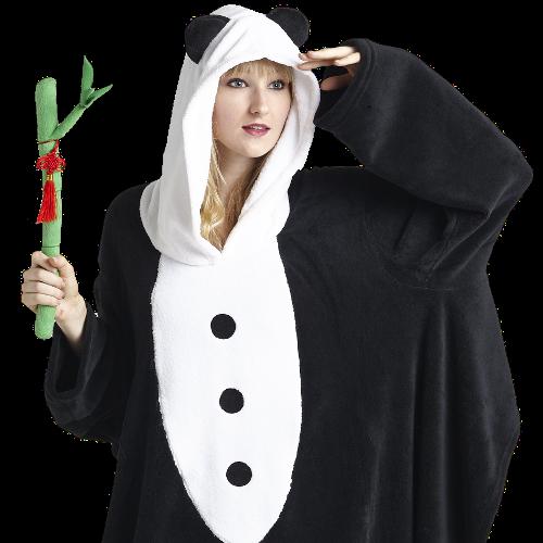 Panda Teemo Hoodie Blanket